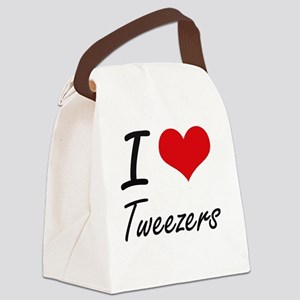 I love Tweezers Canvas Lunch Bag