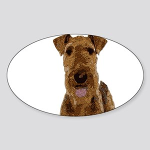 Airedale Painted Sticker