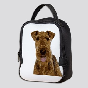 Airedale Painted Neoprene Lunch Bag