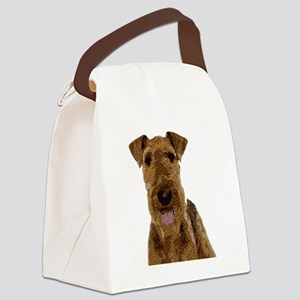 Airedale Painted Canvas Lunch Bag