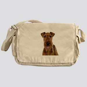 Airedale Painted Messenger Bag