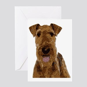 Airedale Painted Greeting Cards