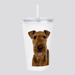 Airedale Painted Acrylic Double-wall Tumbler