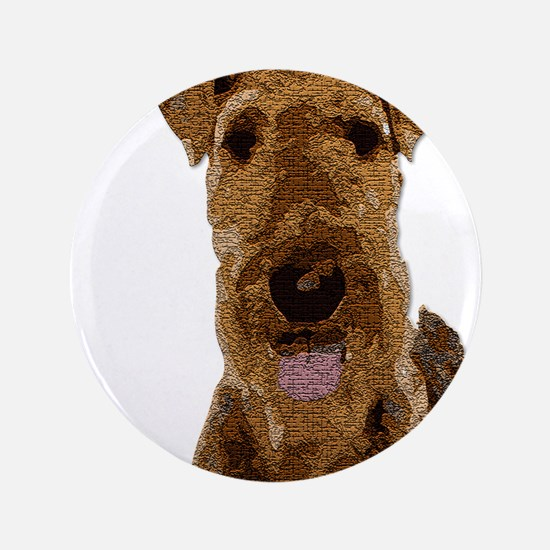 Airedale Painted Button
