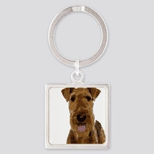 Airedale Painted Keychains