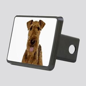 Airedale Painted Rectangular Hitch Cover