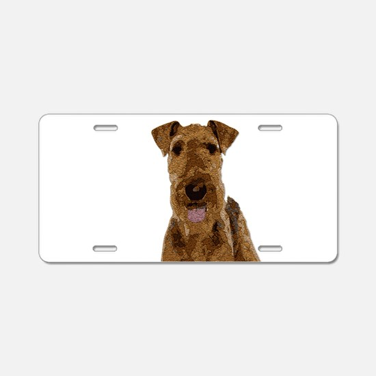 Airedale Painted Aluminum License Plate