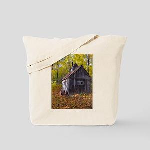 Old Quebec Maple Syrup Cabin Tote Bag