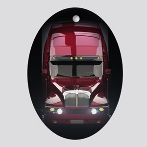 Heavy Truck Oval Ornament