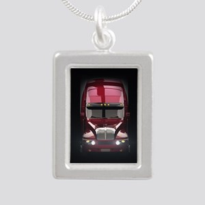 Heavy Truck Silver Portrait Necklace