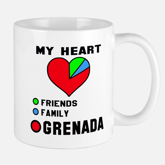 My Heart Friends, Family and Gre Mug