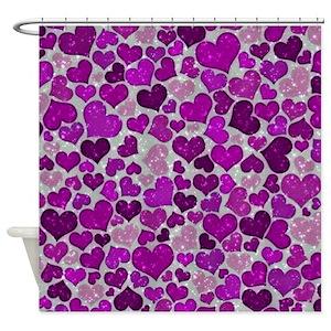 Glitter Purple Shower Curtains