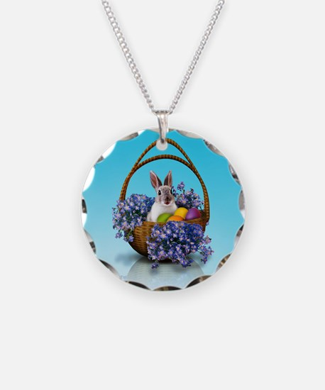 Easter Bunny Basket Necklace