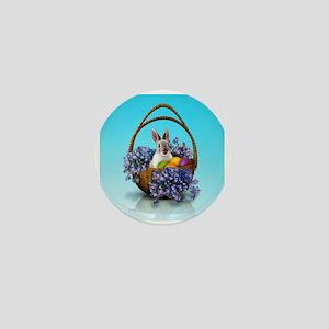 Easter Bunny Basket Mini Button
