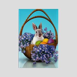 Easter Bunny Basket Rectangle Magnet