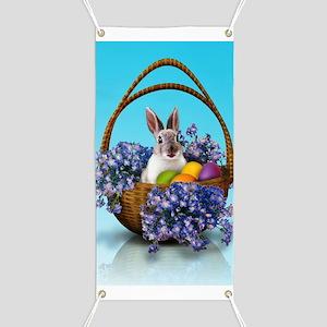 Easter Bunny Basket Banner