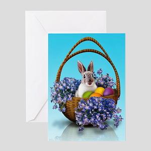 Easter Bunny Basket Greeting Card