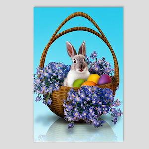 Easter Bunny Basket Postcards (Package of 8)