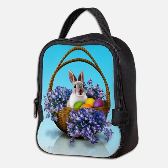 Easter Bunny Basket Neoprene Lunch Bag