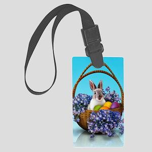 Easter Bunny Basket Large Luggage Tag
