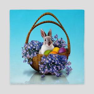 Easter Bunny Basket Queen Duvet