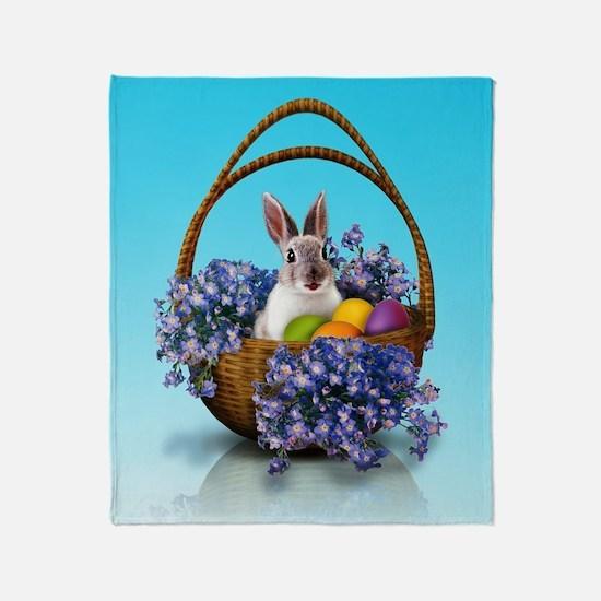 Easter Bunny Basket Throw Blanket