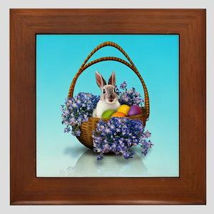 Easter Bunny Basket Framed Tile