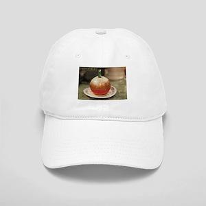 metallic pumpkin painted Cap