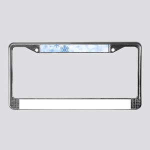 Snowflakes License Plate Frame