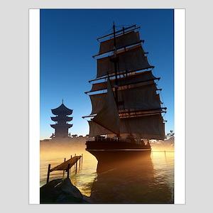 Asian Tall Ship Small Poster