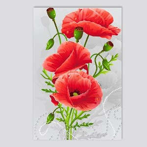 Artistic Red Poppies Postcards (Package of 8)