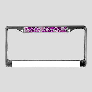Sparkling Hearts, purple,pink License Plate Frame