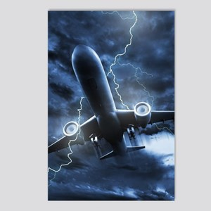 Airplane Lightning Postcards (Package of 8)