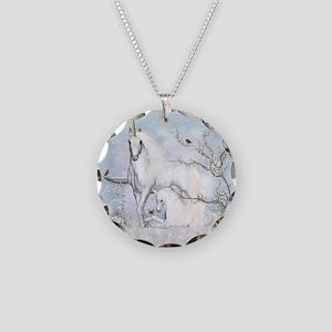 Winter Robins & Unicorns Necklace Circle Charm