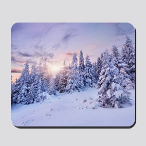 Winter Pine Forest Mousepad