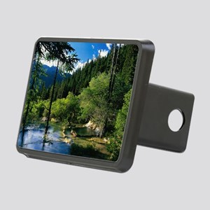Mountain Forest Lake Rectangular Hitch Cover