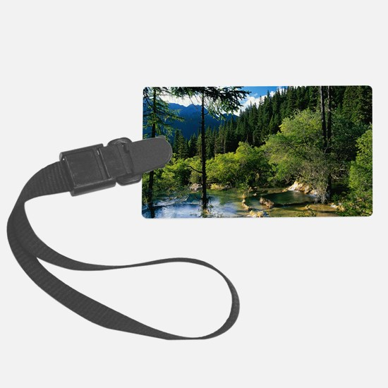 Mountain Forest Lake Luggage Tag