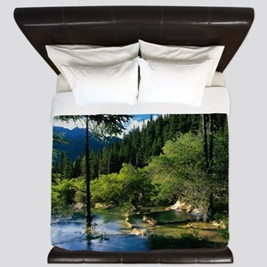 Mountain Forest Lake King Duvet