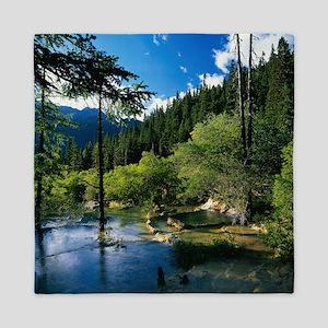 Mountain Forest Lake Queen Duvet