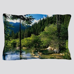 Mountain Forest Lake Pillow Case