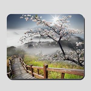 Japanese Cherry Landscape Mousepad