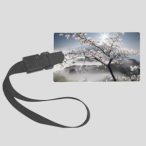 Japanese Cherry Landscape Large Luggage Tag