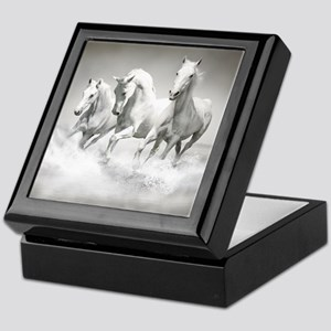 Wild White Horses Keepsake Box