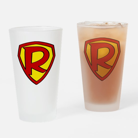 Funny Super hero Drinking Glass