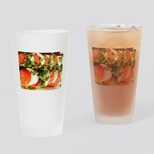tomato and mozzarella Drinking Glass