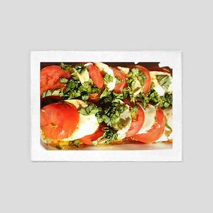 tomato and mozzarella 5'x7'Area Rug