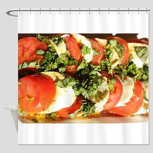tomato and mozzarella Shower Curtain