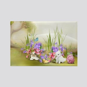 Easter Bunnies Rectangle Magnet