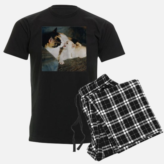 CALICO CAT AND WHITE KITTY Pajamas