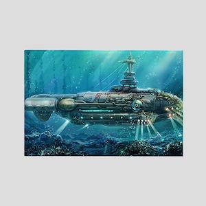 Steampunk Submarine Rectangle Magnet